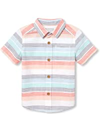 fbbe3495 The Children's Place Boys' Baby Short Sleeve Button Down Shirt