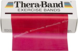 TheraBand Resistance Bands, 6 Yard Roll Professional Latex Elastic Band for Upper Body