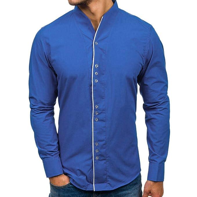 Herren Hemd Business Hemden Bügelleicht Hochzeit Freizeithemd Slim Fit T-shirt