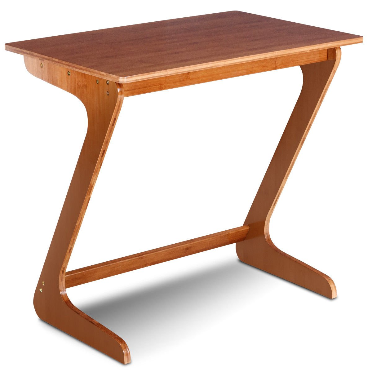 AyaMastro Z-Shape Bamboo Sofa Side End Table Laptop Desk with Ebook