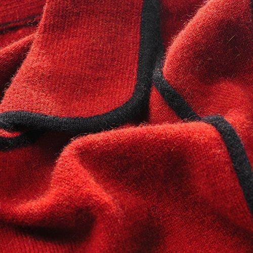 Women's 100 Cashmere Neck Pure Long Zhili Round Sleeve Owqd85xPF