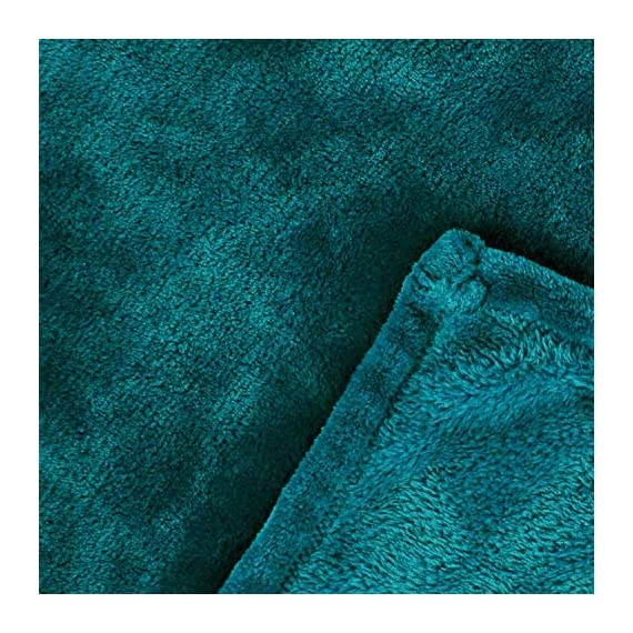 "Exclusivo Mezcla Luxury Flannel Velvet Plush Throw Blanket – 50"" x 60"" (Teal) - 280GSM FLANNEL FLEECE- The flannel fabric we choose is originally made from 100% microfiber polyester and brushed to create extra softness on both sides, the throw is designed to be simple but elegant. DURABILITY- The throw we offered is designed to be simple but elegant, this plush throw is super soft, durable, warm and lightweight. It's wrinkle and fade resistant, doesn't shed, and is suitable for all seasons. DECORATIVE- Throw features a velvet touch softness and rich and inviting designs, featuring a double-faced plush with graceful luster. Easily coordinates or enhances existing bedding or home décor. - blankets-throws, bedroom-sheets-comforters, bedroom - 611m7zKnSdL. SS570  -"