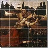 "Ceramic Tile Mural-Leonardo Da Vinci Angels 23. 30"" w x 30"" h using (25) 6 x 6 ceramic tiles"