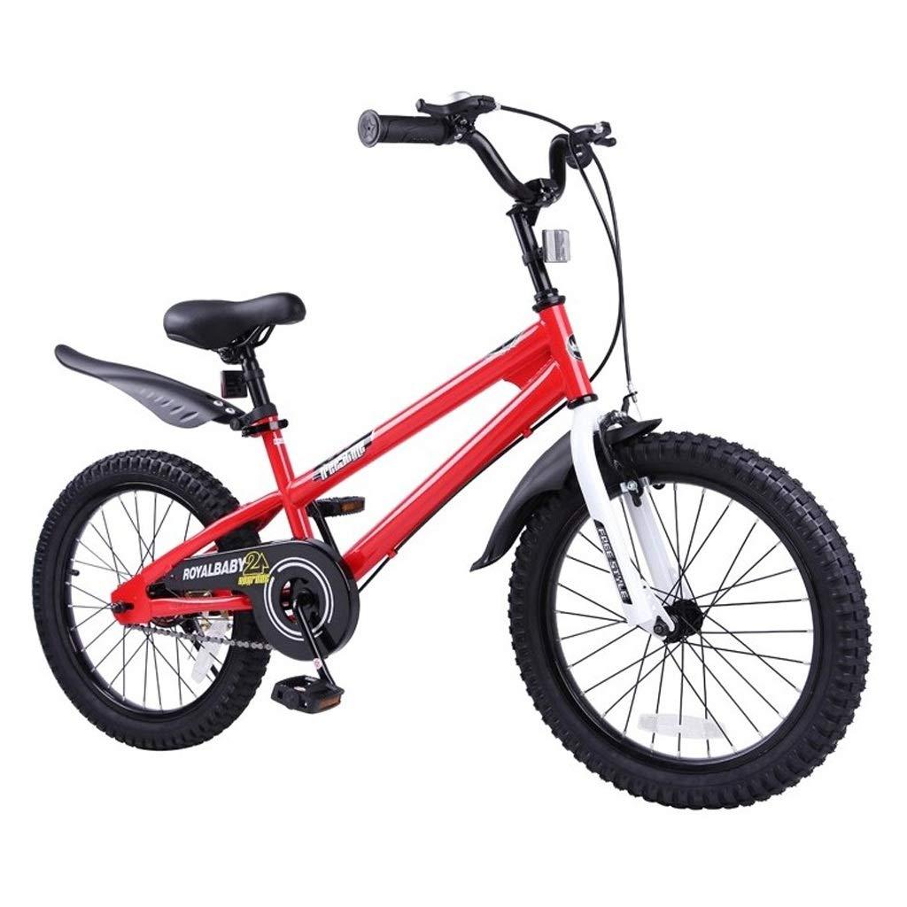 Bici per bambini per bambini della ragazza del ragazzo stile libero, altezza regolabile del manubrio e altezza del sedile, per diverse età di apprendimento ( colore   rosso , dimensioni   16 inches )