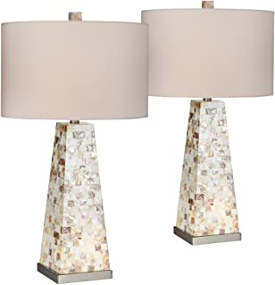 Lorin mother of pearl table lamp with night light amazon lorin mother of pearl table lamp with night light set of 2 aloadofball Images