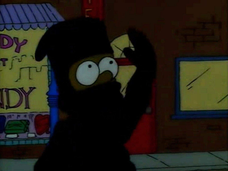 The Simpsons Bart Simpson Ninja Original Production Cel from ...
