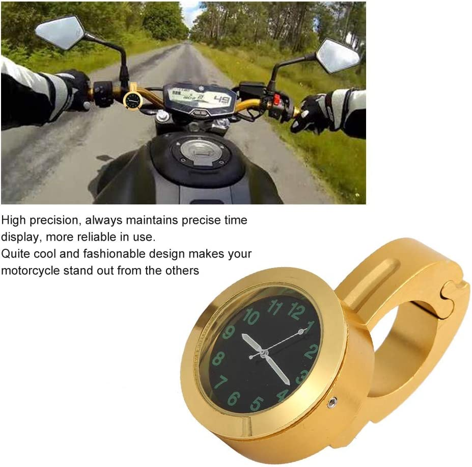 supporto per manubrio universale per moto Orologio da polso con impugnatura in metallo Accessorio per la modifica dellorologio in metallo oro Orologio per moto