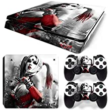 Ps4 Slim Playstation 4 Console Skin Decal Sticker Harley Quinn + 2 Controller Skins Set (Slim Only)