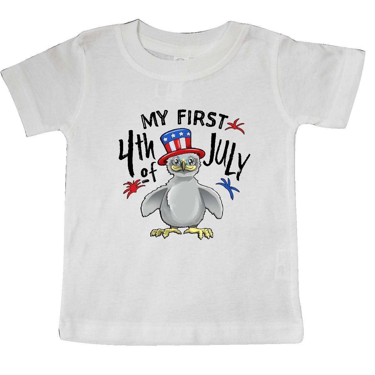 inktastic My First Fourth of July Cute Baby Bald Eagle Baby T-Shirt