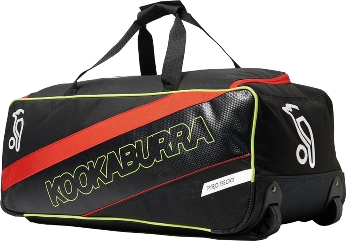 Kookaburra Pro 1500 Wheelie Bag - Black red 700 X 310 X 260mm 100l Junior   Amazon.co.uk  Sports   Outdoors b99e8fdf167b4