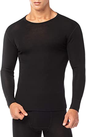 LAPASA Mens Thermal Underwear Long John Set Fleece Lined Base Layer Top and Bottom M11