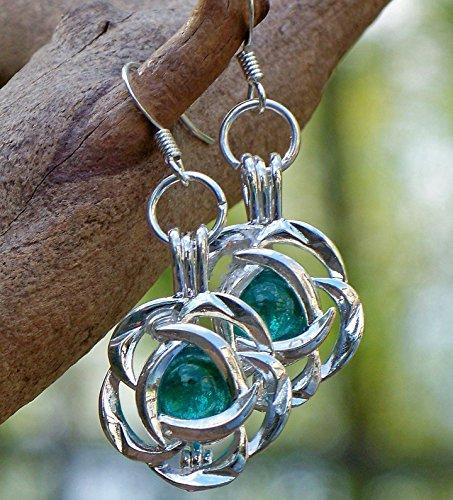 - Recycled Vintage Mason Jar Flower Earrings