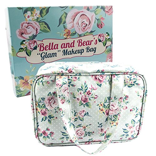 Price comparison product image Cute Floral Makeup Bag for Travel and Home Perfect For Your Makeup and Cosmetics
