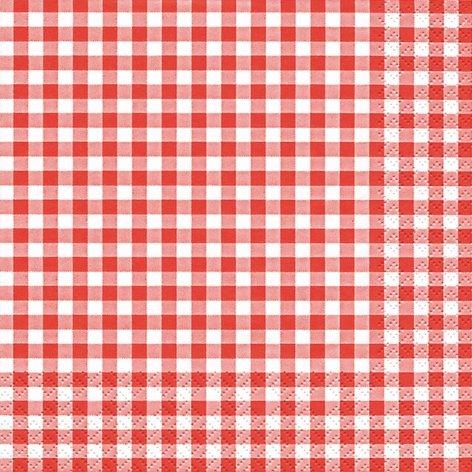 20/serviettes 33/x 33/cm Rouge /à carreaux Blanc Vichy Carreaux Garden Party Carreaux