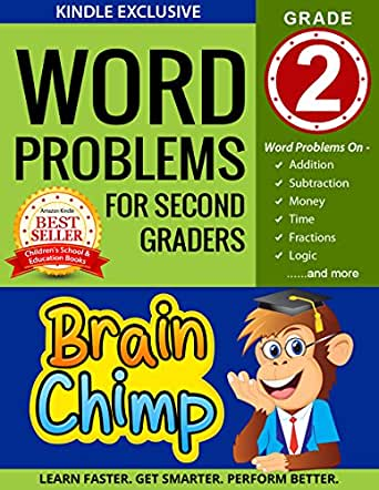 Amazon.com: Word Problems For Second Graders: Ages 7 – 8, Grade 2 ...