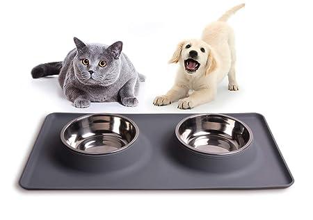 Damit's sauber bleibt: Silikon-Napfunterlage für Katzen- und Hundenäpfe, Edelstahlschüsseln, Fressnapf, Futternapf, Katzenzub