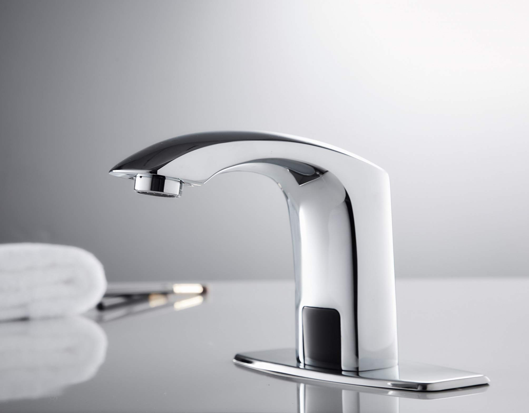 HHOOMMEE Automatic Touchless Sensor Faucet Motion Activated Bathroom Hands Free Tap (Chrome) by HHOOMMEE