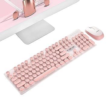 Teepao Teclado para Escribir Tipo, Teclado mecánico, Teclado Retro, Teclado inalámbrico Vintage, Juego de teclados para Ordenadores portátiles: Amazon.es: ...