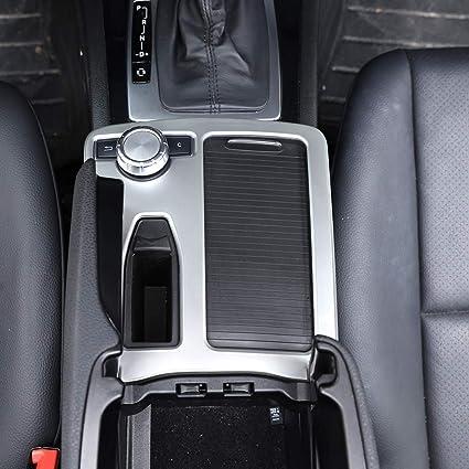 Diyucar Für C Klasse W204 2008 2014 Auto Abs Matt Silber Mittelkonsole Getränkehalter Rahmenverkleidung Auto