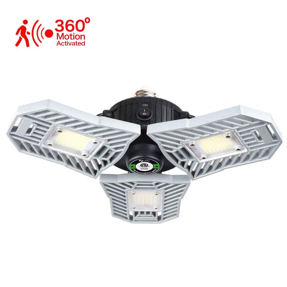 LED Deformable Garage Light Radar Motion Ceiling E27 Ceiling Lamp Lights Bulbs