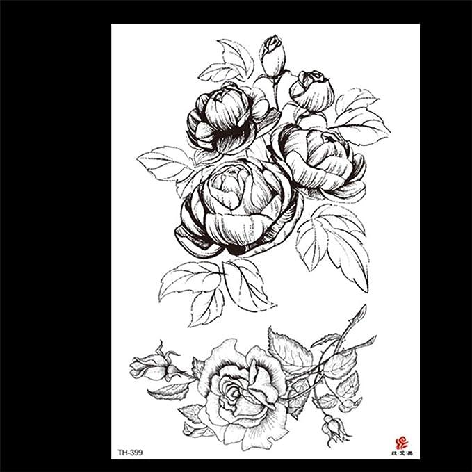 zgmtj Nuevas Pegatinas de Tatuaje de Brazo de Flor Pegatinas de ...