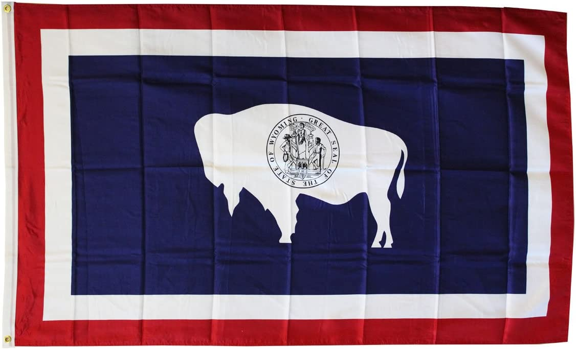 3 x 5 Dura-Poly/™ Polyester US State Flag by Flagline Wyoming