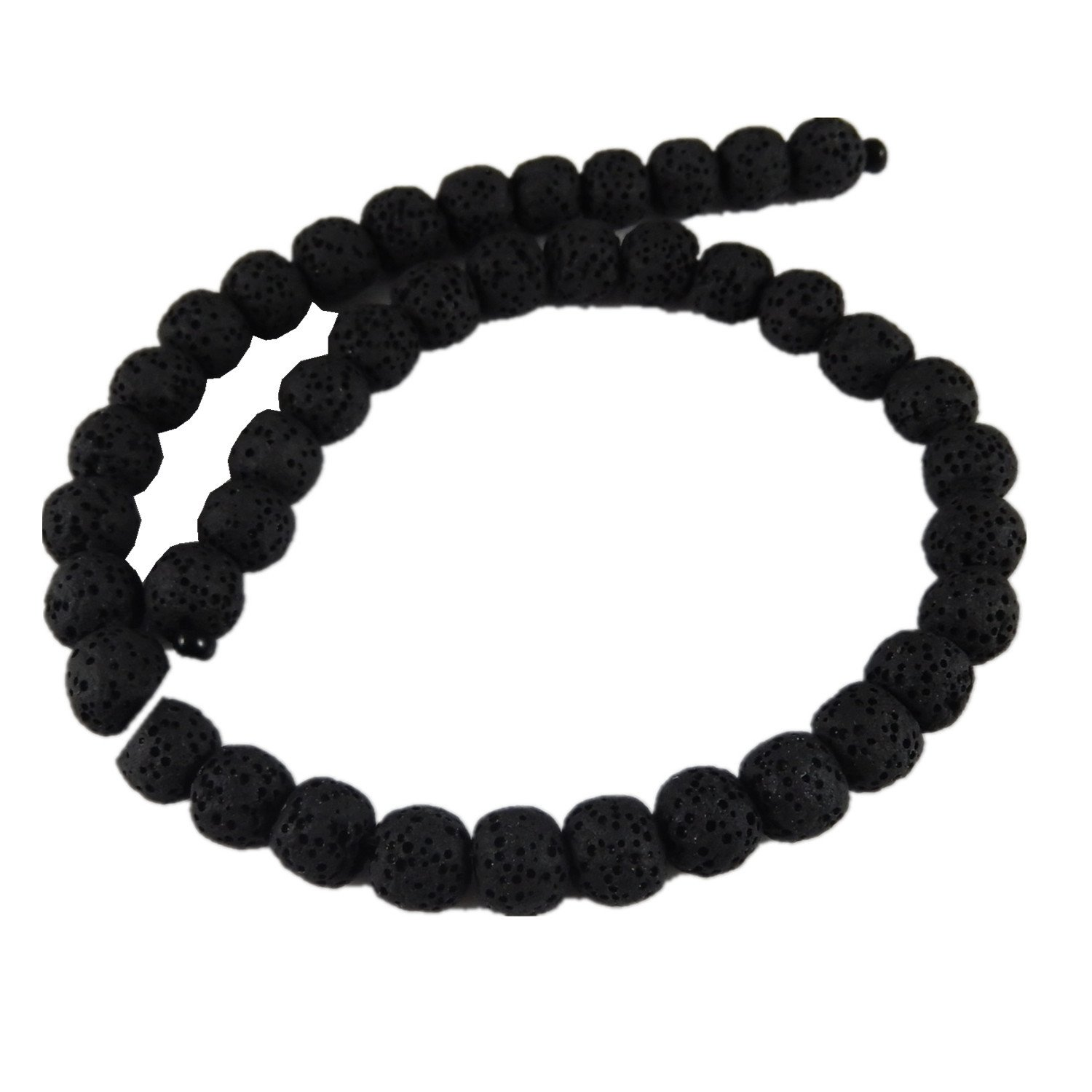 GraceAngie 1 Strand Natural Lava Stone Beads 8mm approx 45pcs Energy Stone Healing Power for Jewelry Making