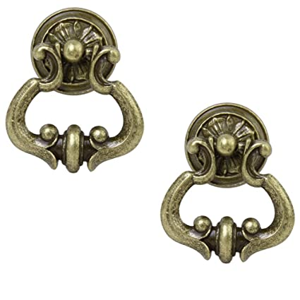 Tinksky Antique Cabinet Cupboard Wardrobe Drawer Knob Door Pull Handle - 1  Pair - Tinksky Antique Cabinet Cupboard Wardrobe Drawer Knob Door Pull