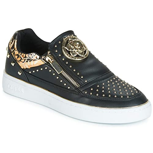 Guess Shoes Woman Sneakers Without Laces FL5BE2ELE12 Black  Amazon ... ce9f28d7ebb