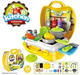 Kids Choice Ultimate Kid Chef's Bring Along Kitchen Cooking New Yellow Pretend Play Toys Suitcase Set