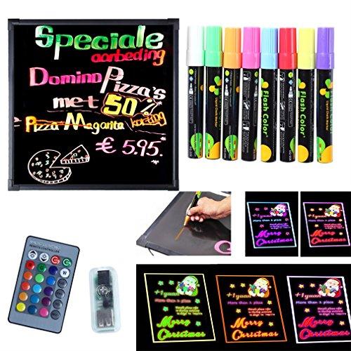 ICOCO Remote Control Chalkboard Illuminated Fluorescent