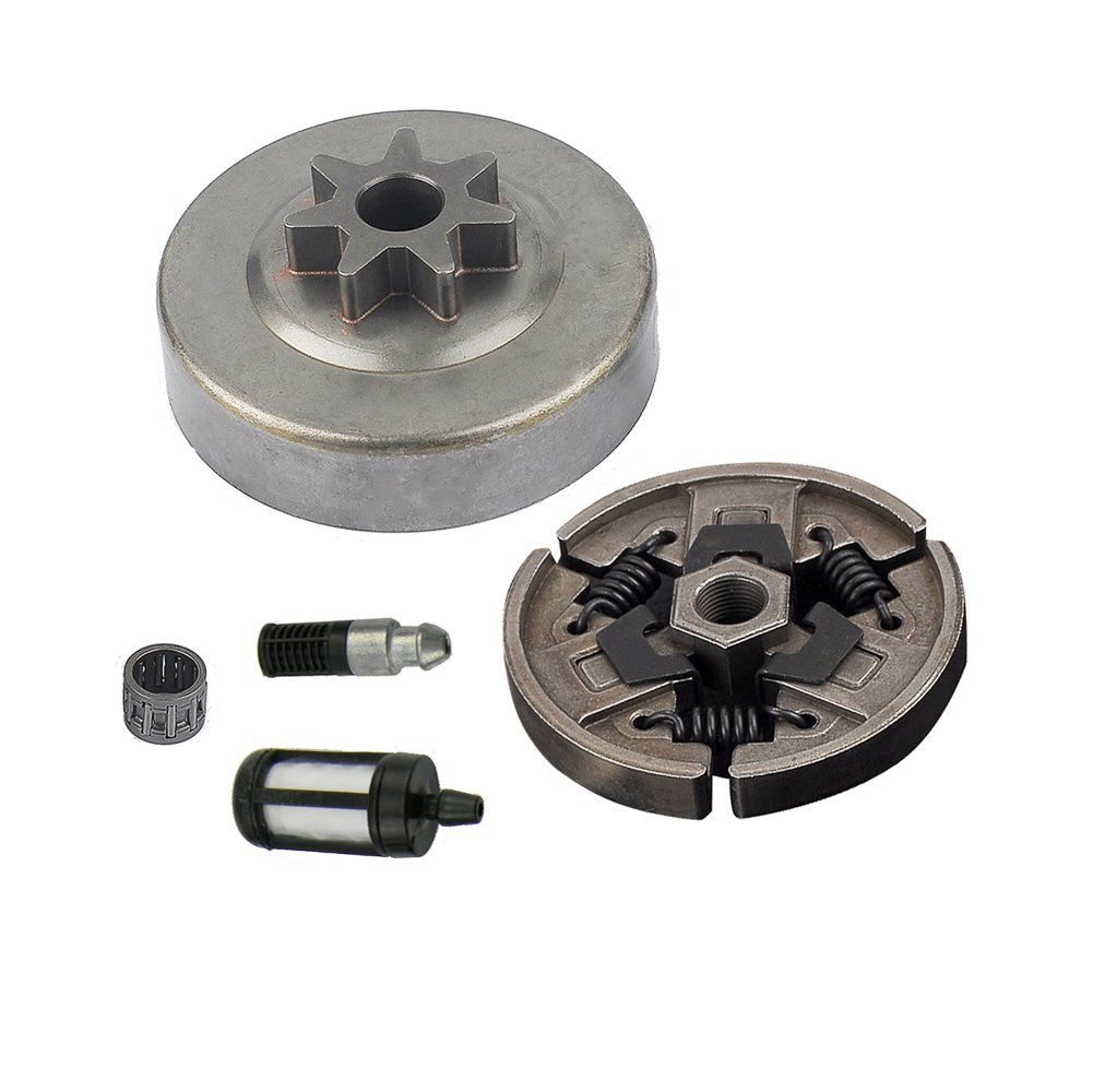 HIPA Pack of Clutch+Clutch Drum Chain Sprock Fuel Filter for Stihl MS290 MS390 029 039 Chainsaw Parts Replace 1125 160 2002