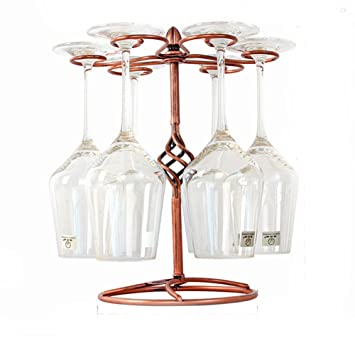 Amazoncom Beigu Classic Metal Hanging Wine Rackwine Glass Holder