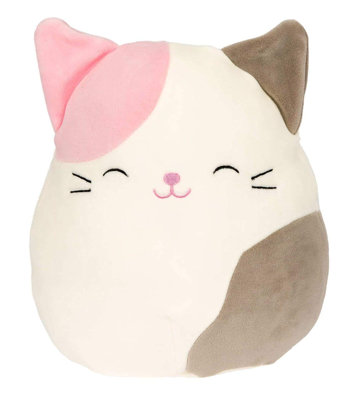 Squishmallow 8'' Plush Animal Pillow Pet (Karina The Pink & Grey Tabby Cat)