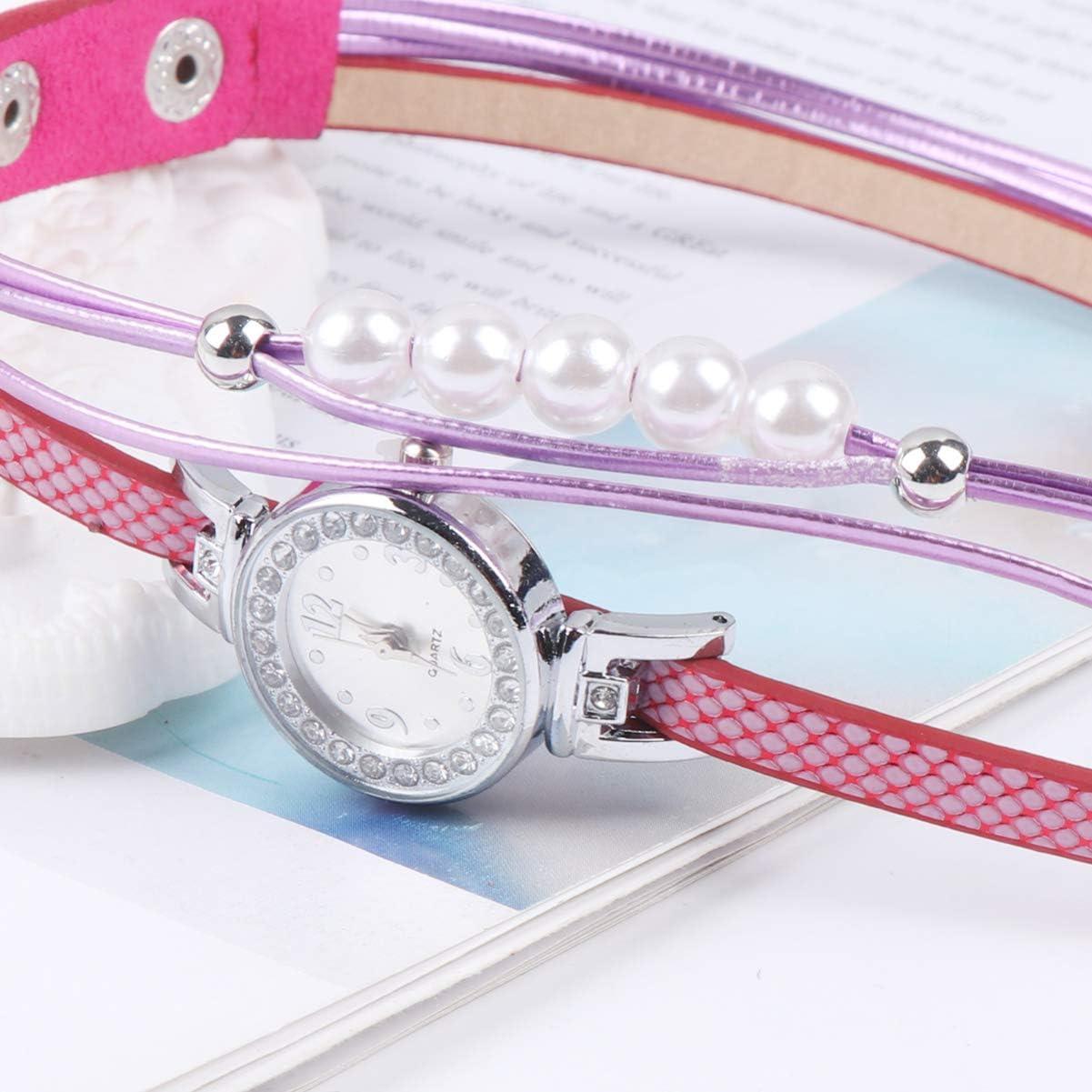 NICERIO Femmes Montre à Quartz - 2020 Nouveau Bracelet de Montre-Bracelet en Cuir Unique pour Femmes Filles Dames Rose