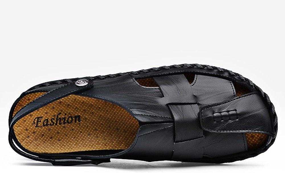 Herren Pantoletten Slides Sandalen Leder Freizeit Hausschuhe Strand Sandale Schuhe Outdoor Sandalen