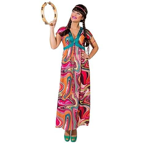 Krause & Sohn Traje de Hippie Alina Gr. 34-52 vestido largo ...