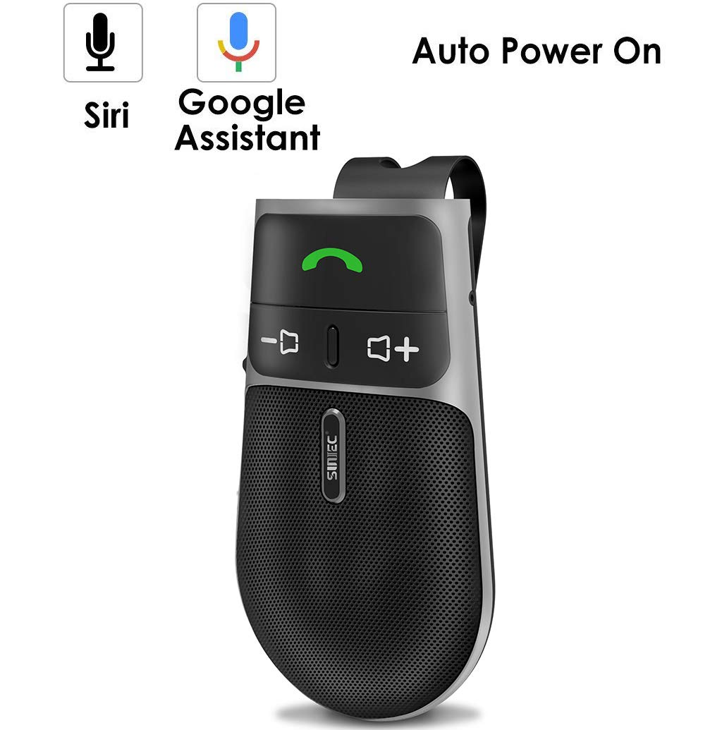 2019 SUNITEC BC920 Bluetooth Hands Free Car Kit, Connects with Siri & Google Assistant, Auto On Off, Handsfree Speakerphone Wireless in Car, 2W Powerful Speaker, Dual Link Connectivity & Visor Clip by Sunitec (Image #8)