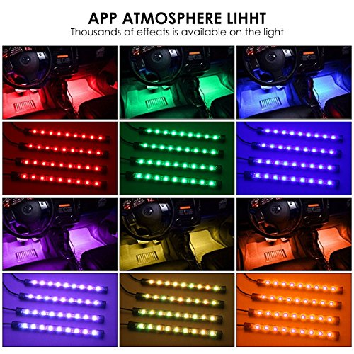 ambother 4x car led rgb music interior atmosphere floor import it all. Black Bedroom Furniture Sets. Home Design Ideas