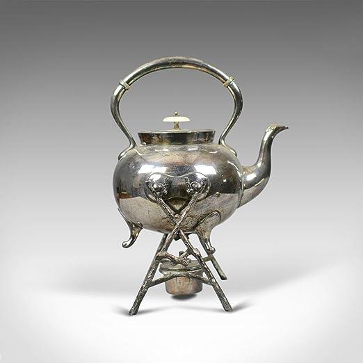 London Fine Antiques - Tetera con Soporte (bañada en Plata), diseño ...