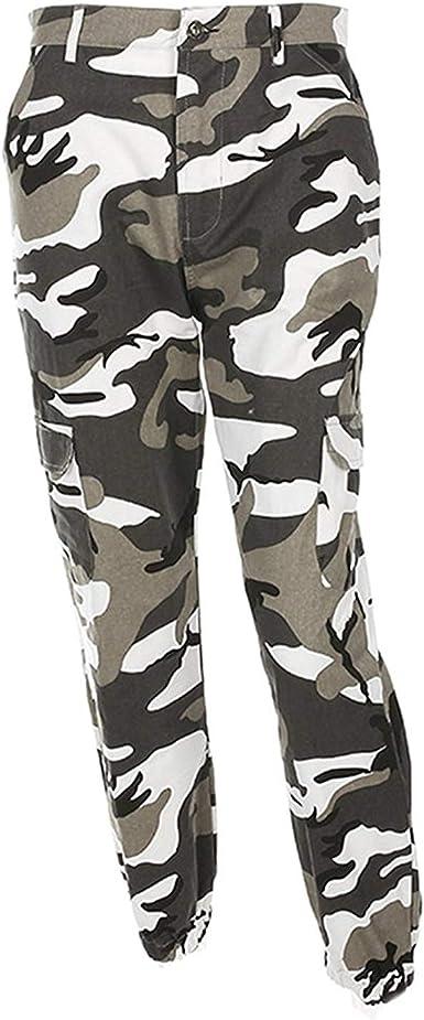 Hx Fashion Pantalon Militar Mujer Largas Elegantes Otono Outdoor Pantalon Deporte Casuales Pantalon Cargo Basic Ropa Ropa Amazon Es Ropa Y Accesorios