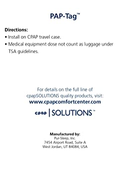 picture about Medical Equipment Luggage Tag Printable known as CPAP Health care Applications Baggage Tag through Pur-Rest