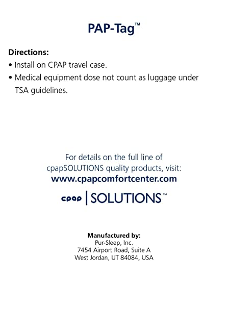 image regarding Medical Equipment Luggage Tag Printable referred to as CPAP Health care Tools Baggage Tag by way of Pur-Snooze