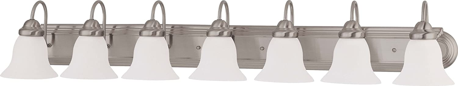 KICHLER 5099CH Bath Vanity Wall Lighting Fixtures, Chrome 4-Light 34 W x 10 H 400 Watts