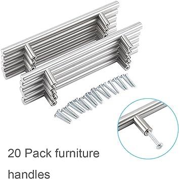 20pcs T Bar Kitchen Cabinet Door Handle Cupboard Drawer Furniture Handles Pull