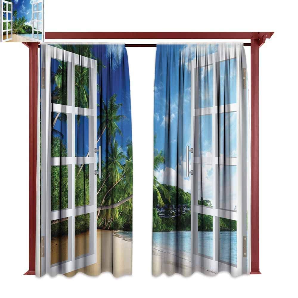 Amazon Com Outdoor Rod Pocket Curtain Panel Ocean Decor