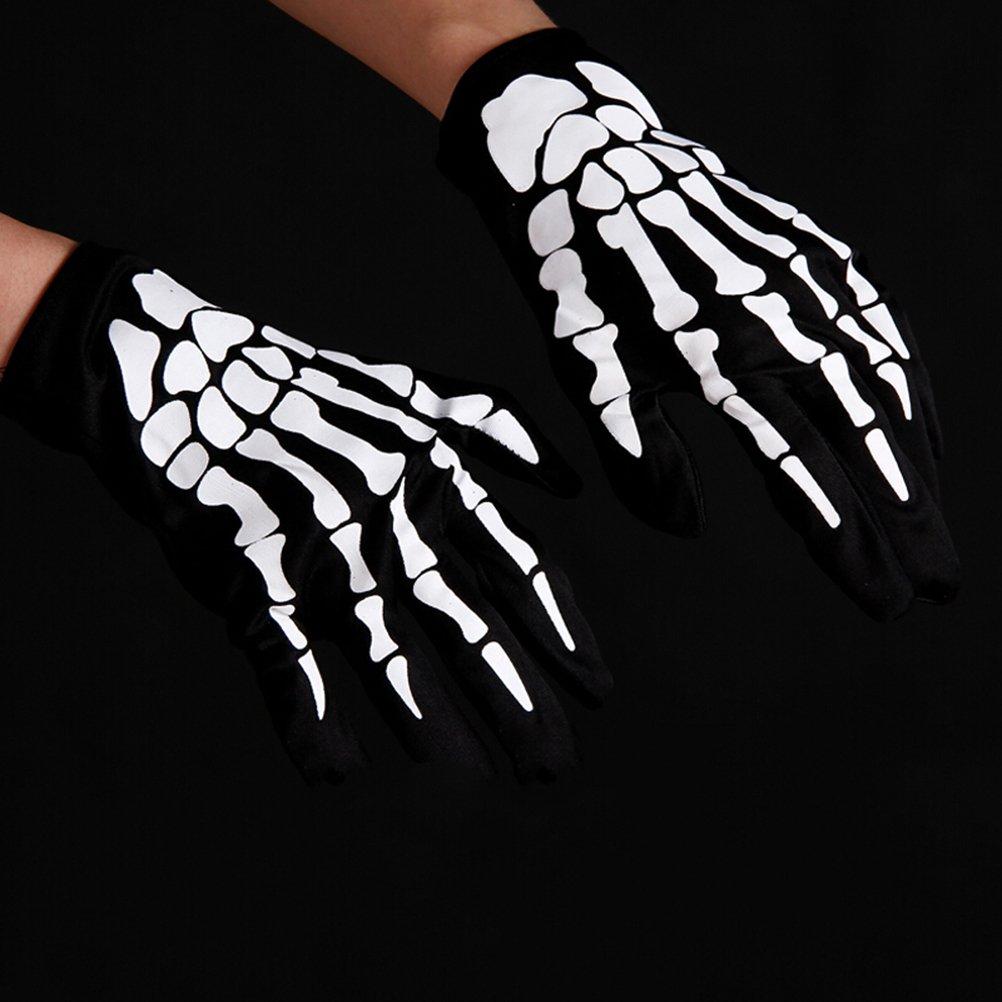 Nero BESTOYARD Guanti Full Finger Skeleton Unisex Guanti Scaldamani Elasticizzati Guanti Racing Full Finger 1 Paio