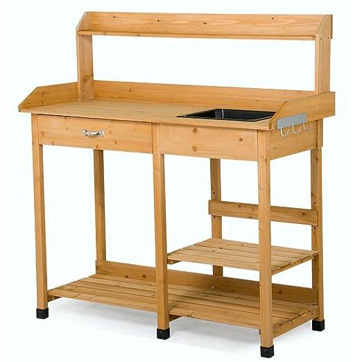 go2buy plantar mesa banco de maceta interior y exterior para banco ...