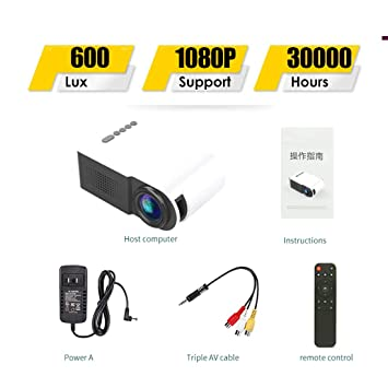 SONGYANG Mini proyector portátil con Video proyector LED y ...