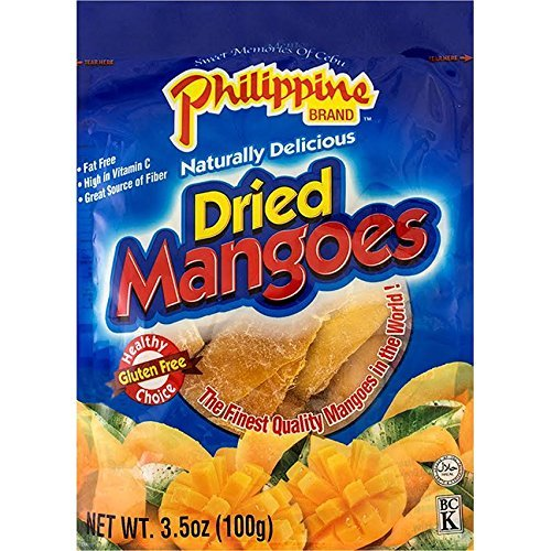 Philippine Brand Dried Mangoes, 3.5oz/100g (Single Pack)
